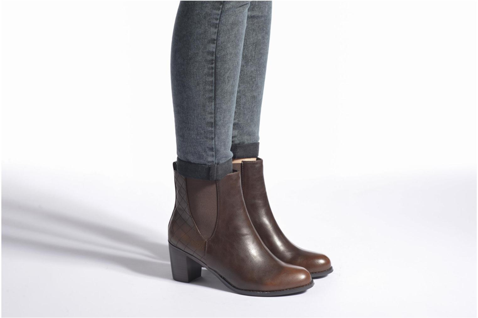 Ankle boots Enza Nucci Edwige Brown view from underneath / model view