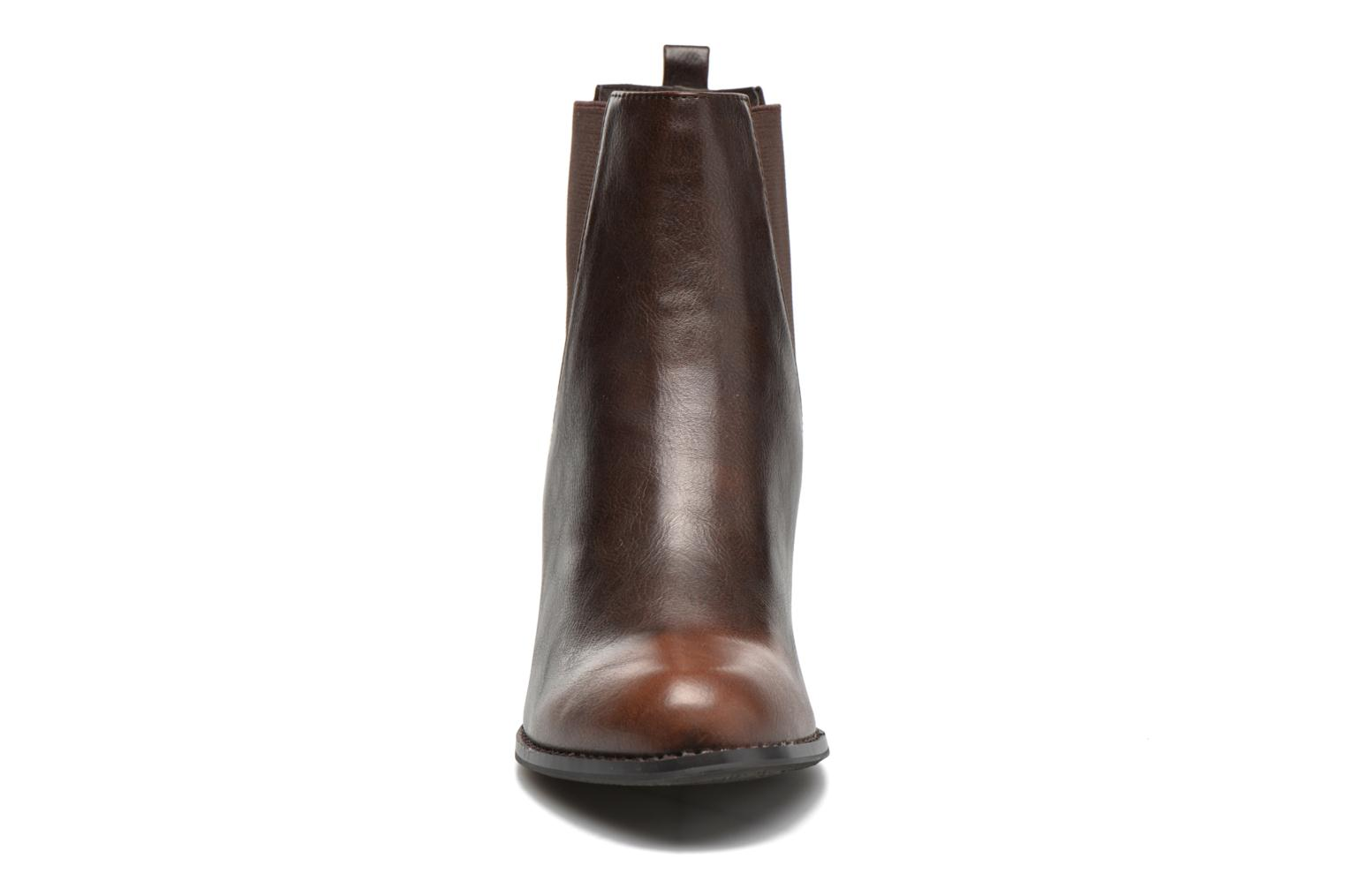 Ankle boots Enza Nucci Edwige Brown model view