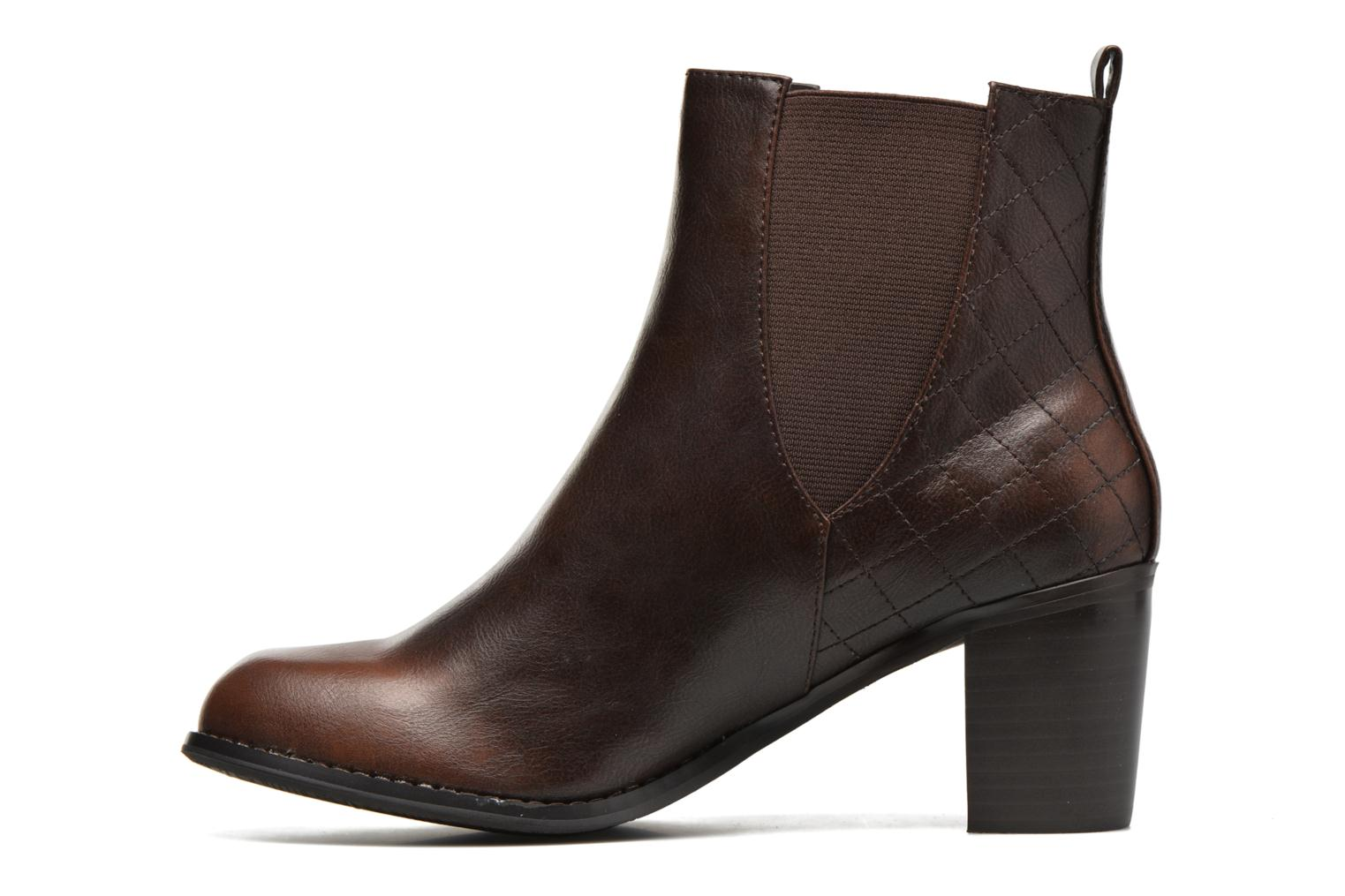Ankle boots Enza Nucci Edwige Brown front view