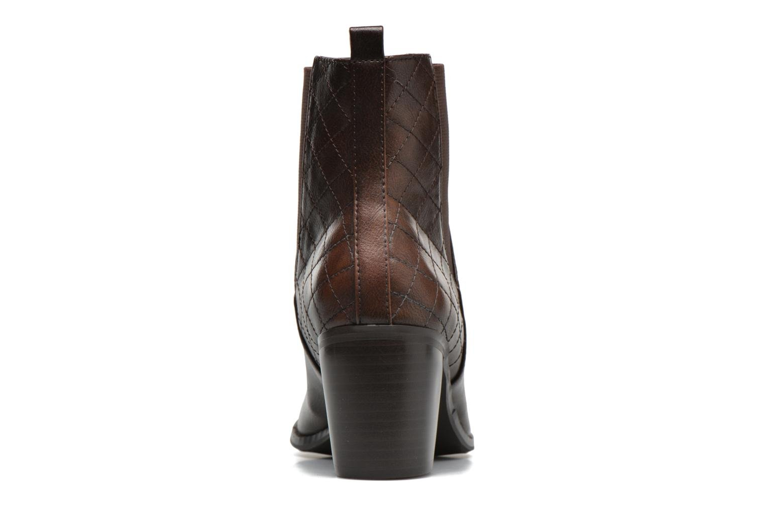 Ankle boots Enza Nucci Edwige Brown view from the right