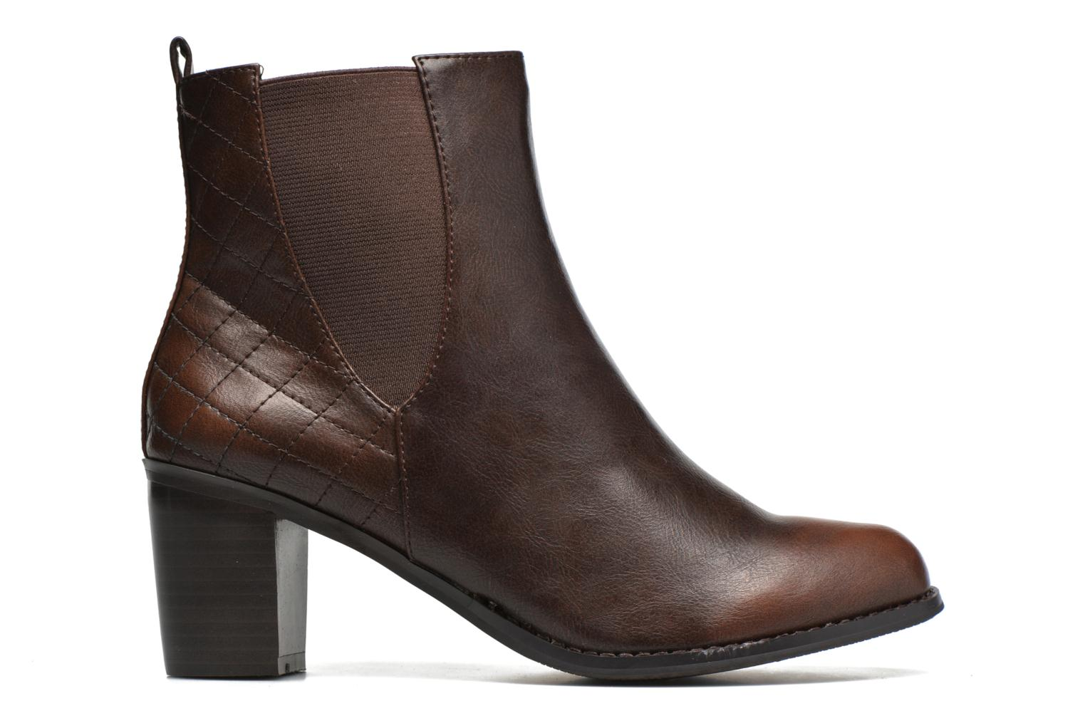 Ankle boots Enza Nucci Edwige Brown back view