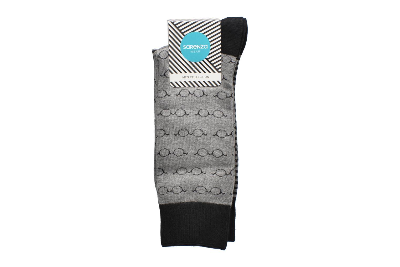 Chaussettes Lunettes Pack de 2 Homme coton Noir