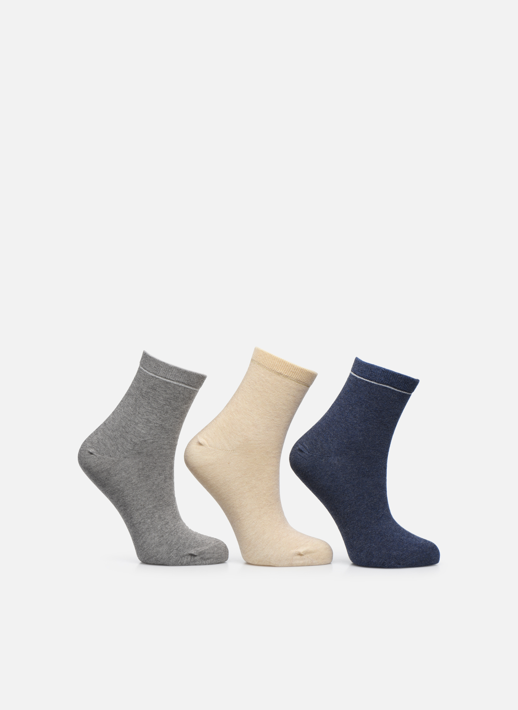 Calze e collant Sarenza Wear Chaussettes unies Pack de 3 femme coton Multicolore vedi dettaglio/paio