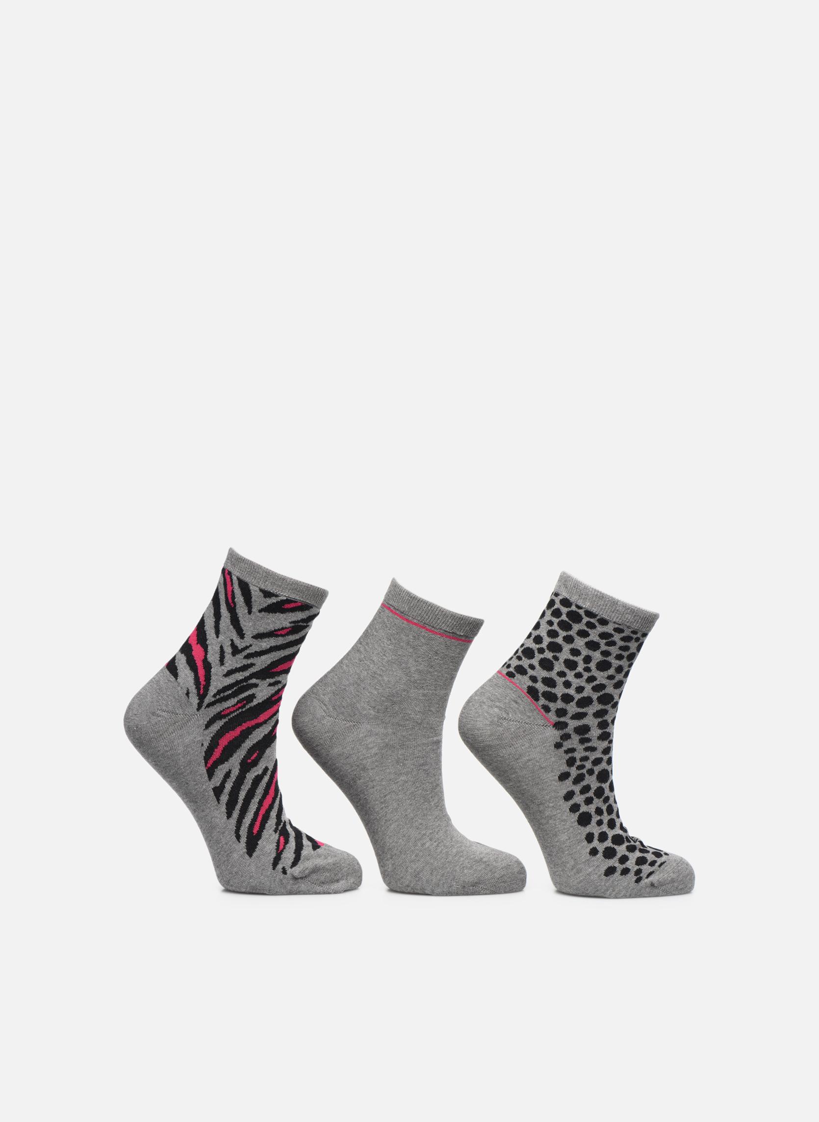 Chaussettes motif Pack de 3 femme coton