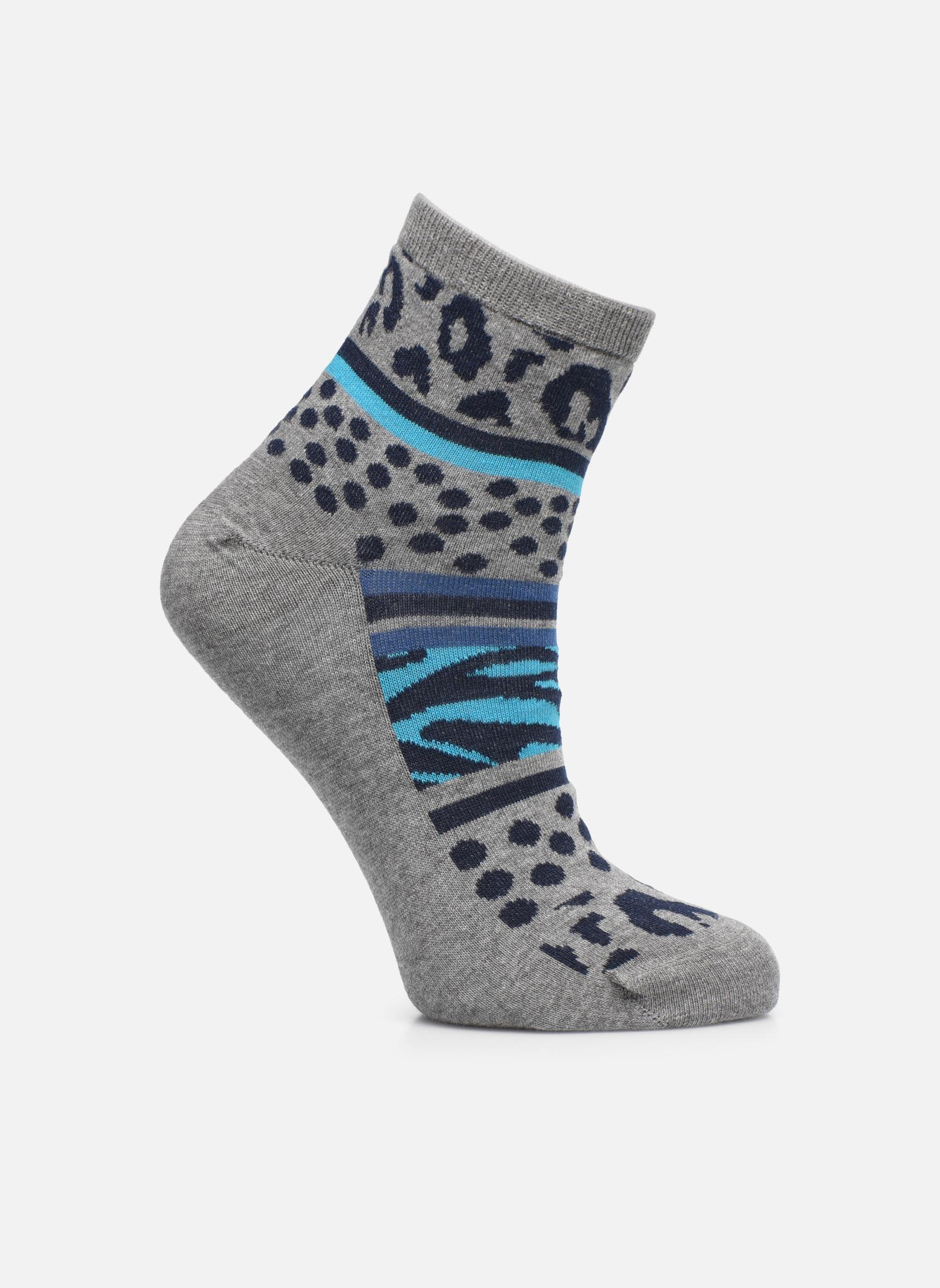 Chaussettes et collants Sarenza Wear Chaussettes leopard femme coton Gris vue détail/paire