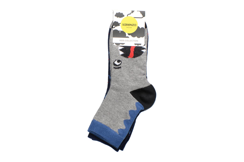 Socken & Strumpfhosen Sarenza Wear Chaussettes dinosaures Pack de 2 enfant coton blau ansicht von hinten