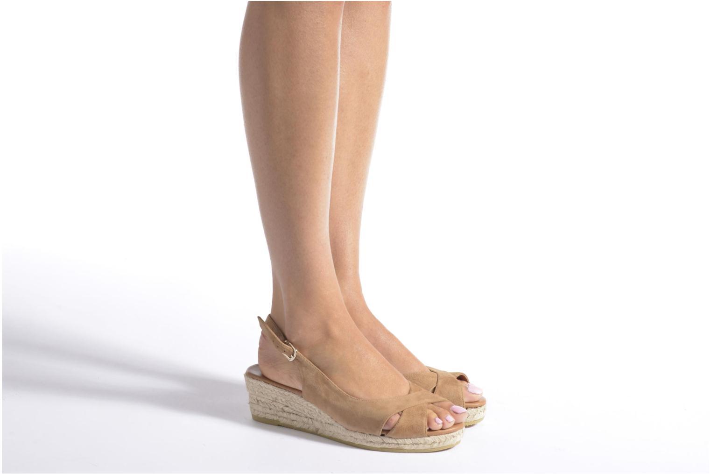 Sandales et nu-pieds Maypol Mungo Noir vue bas / vue portée sac