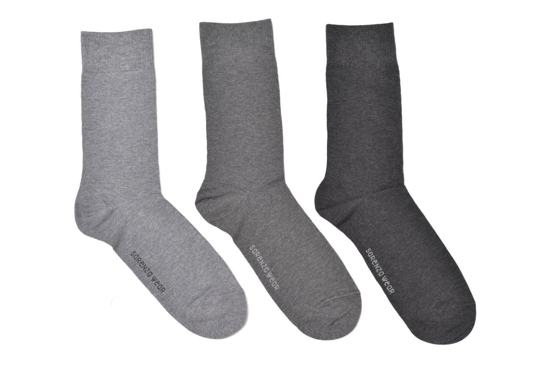 Chaussettes et collants Sarenza Wear Chaussettes Pack de 3 Homme Coton Gris vue détail/paire