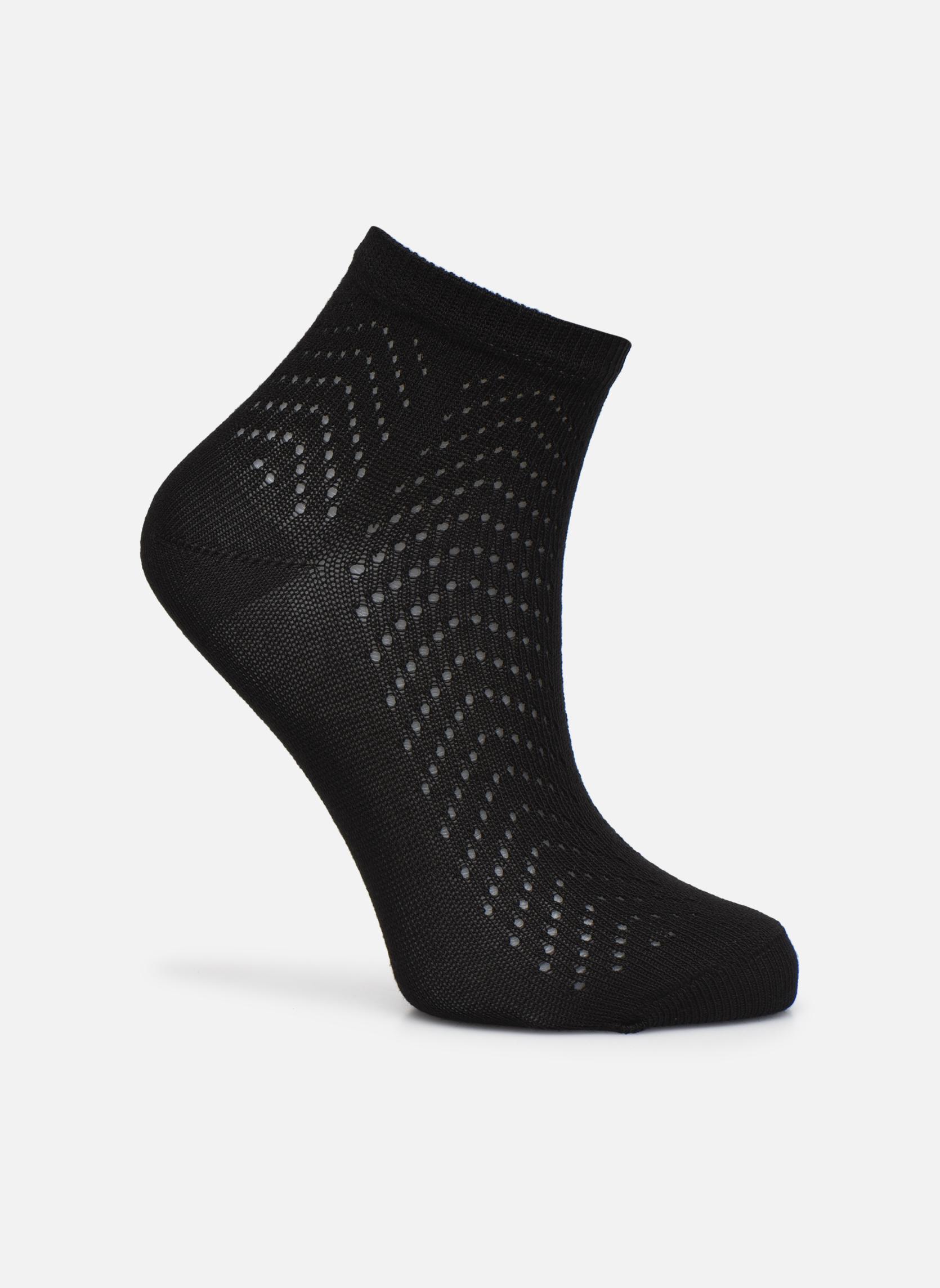 Chaussettes Femme ajourées coton Noir