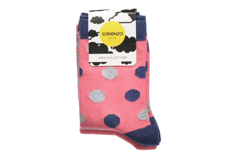 Chaussettes pois Pack de 3 Enfant coton ROSE MARINE GRIS CHINE