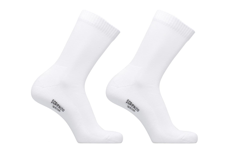Chaussettes et collants Sarenza Wear Chaussettes sport hautes Pack de 2 homme Blanc vue détail/paire