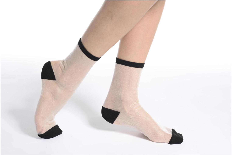 Chaussettes transparente Femme Noir à rayures