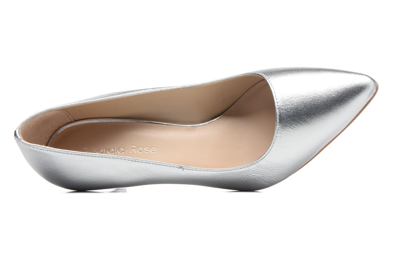 Zapatos de tacón Georgia Rose Gatou Plateado vista lateral izquierda