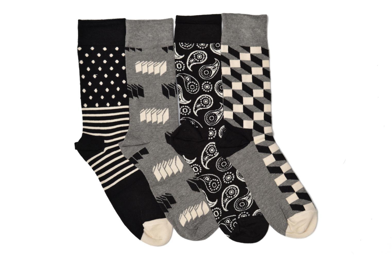Chaussettes et collants Happy Socks Optic Gift Box Noir vue derrière