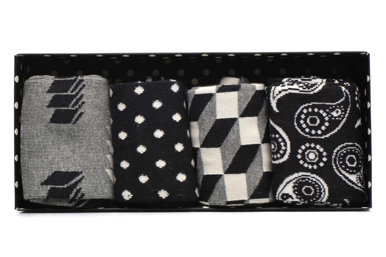 Chaussettes et collants Happy Socks Optic Gift Box Noir vue détail/paire