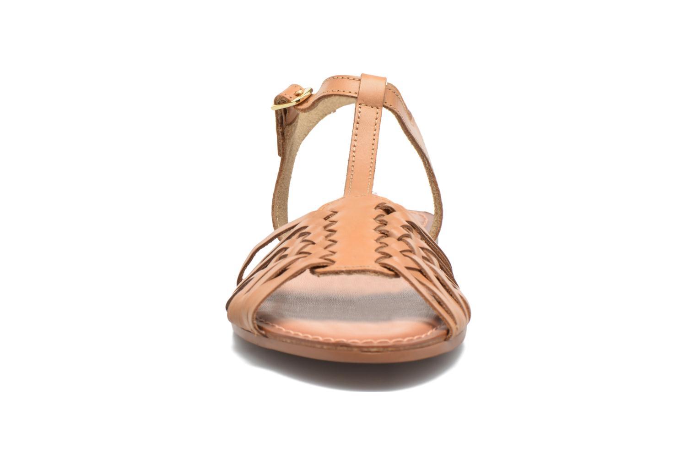 Sandales et nu-pieds I Love Shoes KETRES Leather Marron vue portées chaussures