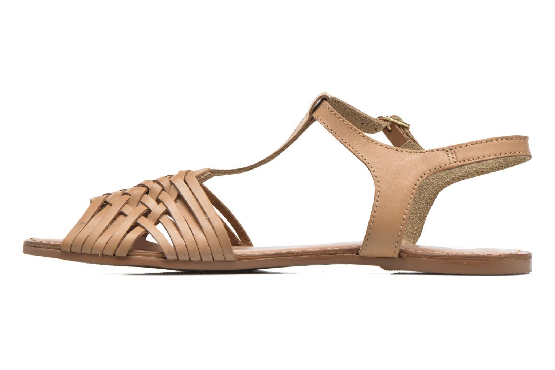 Sandales et nu-pieds I Love Shoes KETRES Leather Marron vue face
