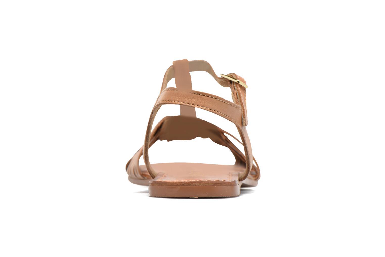 Sandali e scarpe aperte I Love Shoes KETRES Leather Marrone immagine destra