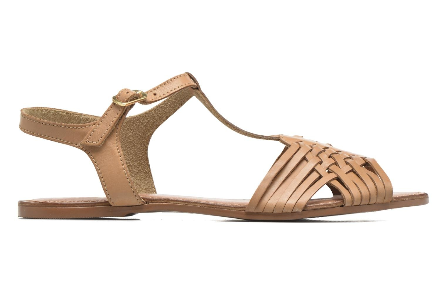 Sandals I Love Shoes KETRES Leather Brown back view