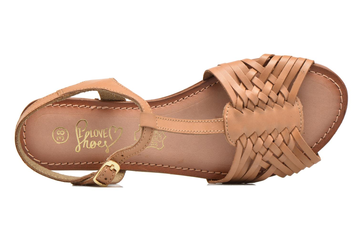 Sandals I Love Shoes KETRES Leather Brown view from the left