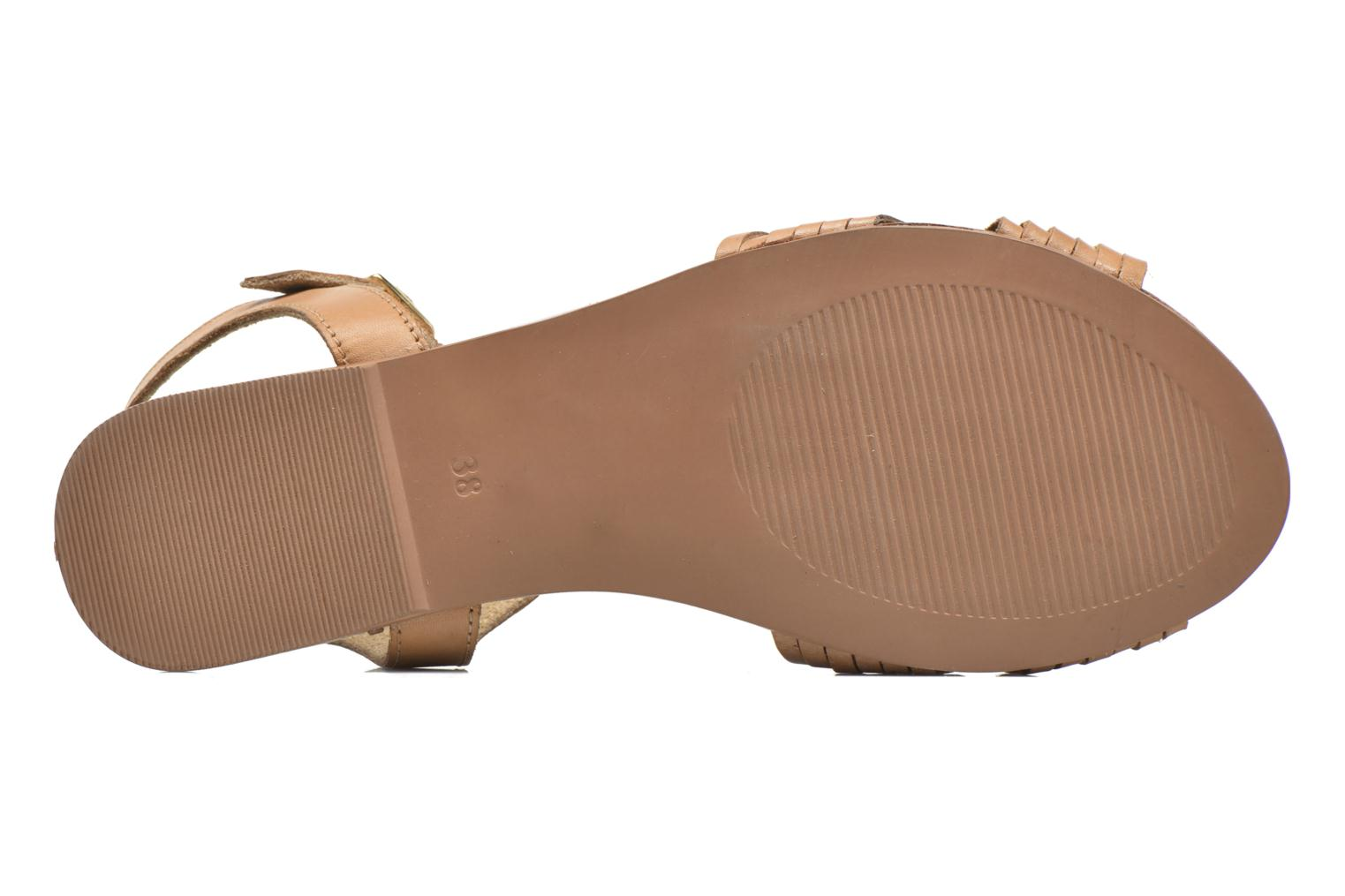 Sandals I Love Shoes KETRES Leather Brown view from above