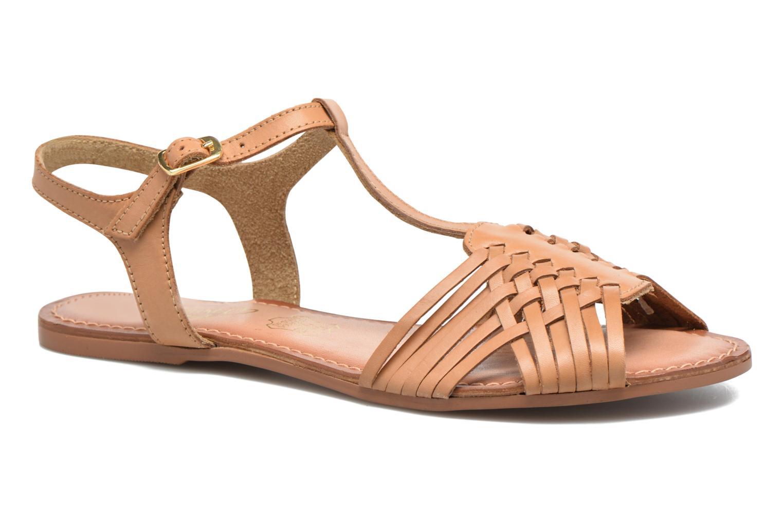 Sandales et nu-pieds I Love Shoes KETRES Leather Marron vue détail/paire