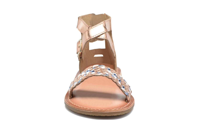 Sandales et nu-pieds I Love Shoes KETRUSI Leather Or et bronze vue portées chaussures
