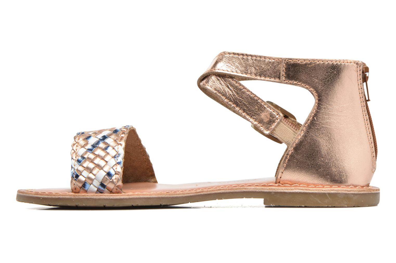 Sandals I Love Shoes KETRUSI Leather Bronze and Gold front view