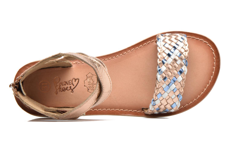 Sandales et nu-pieds I Love Shoes KETRUSI Leather Or et bronze vue gauche