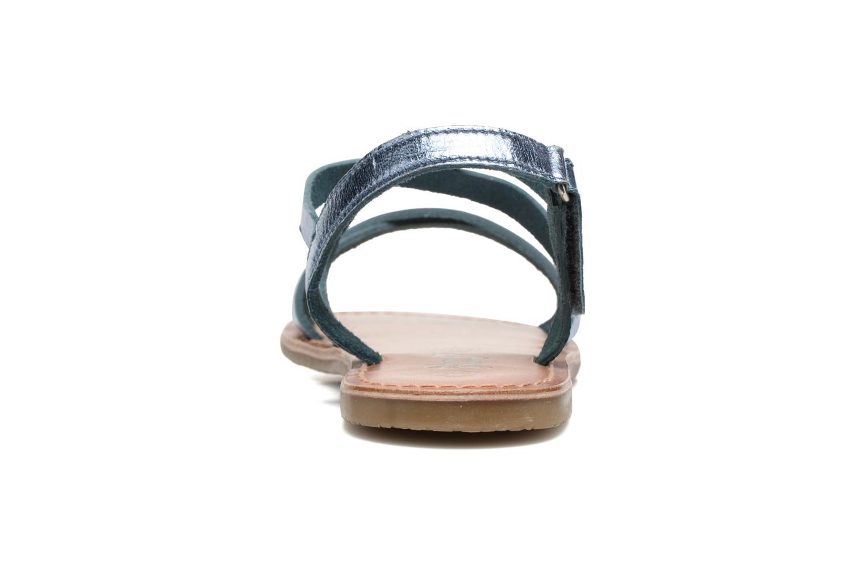 KEINU Leather Metallic Blue
