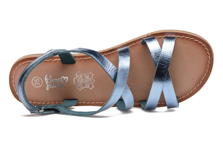 Sandalen I Love Shoes KEINU Leather blau ansicht von links
