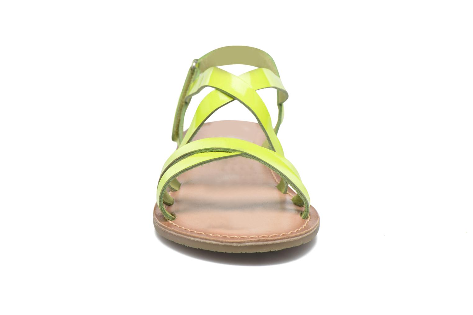 Sandals I Love Shoes KEINU Leather Yellow model view