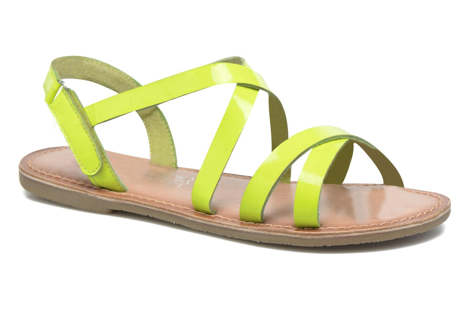 Sandals I Love Shoes KEINU Leather Yellow detailed view/ Pair view