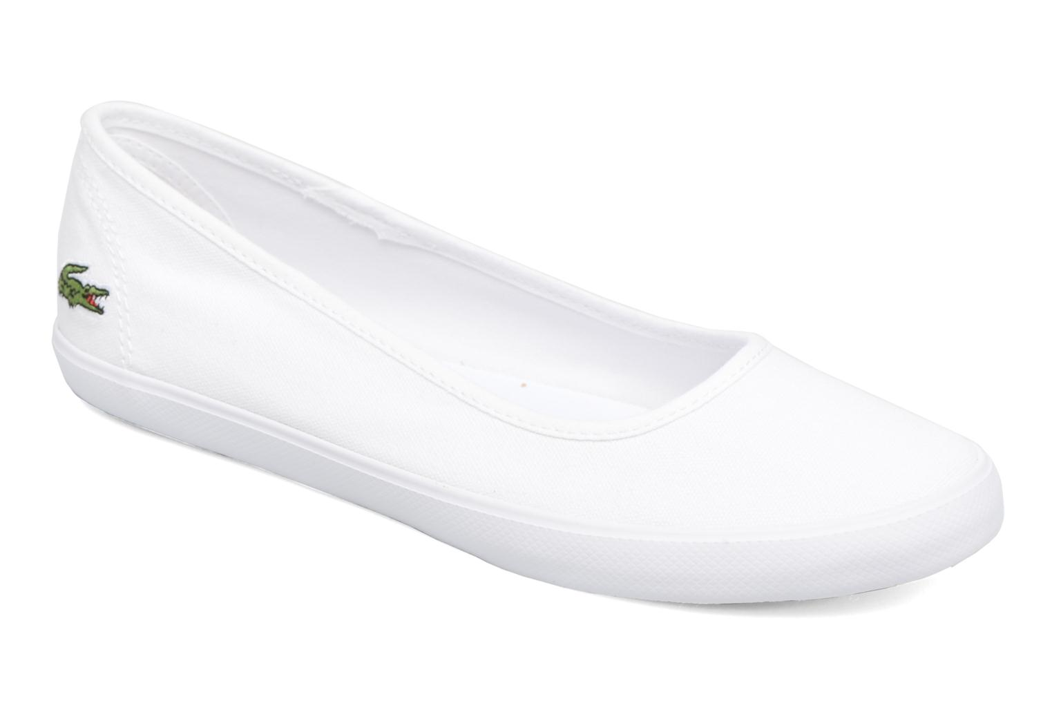 Ballet pumps Lacoste Marthe Bl 1 White detailed view/ Pair view