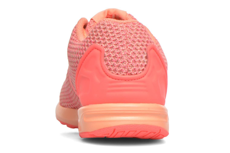 Baskets Adidas Originals ZX Flux Split K Orange vue droite