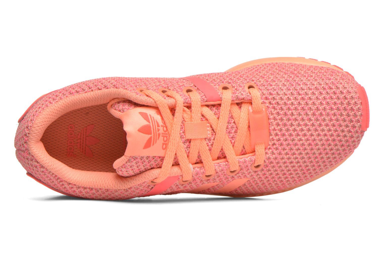 Baskets Adidas Originals ZX Flux Split K Orange vue gauche