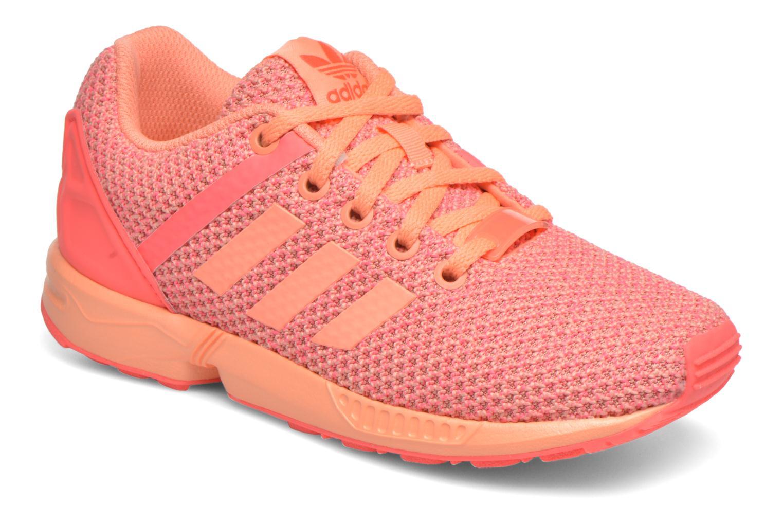 Baskets Adidas Originals ZX Flux Split K Orange vue détail/paire