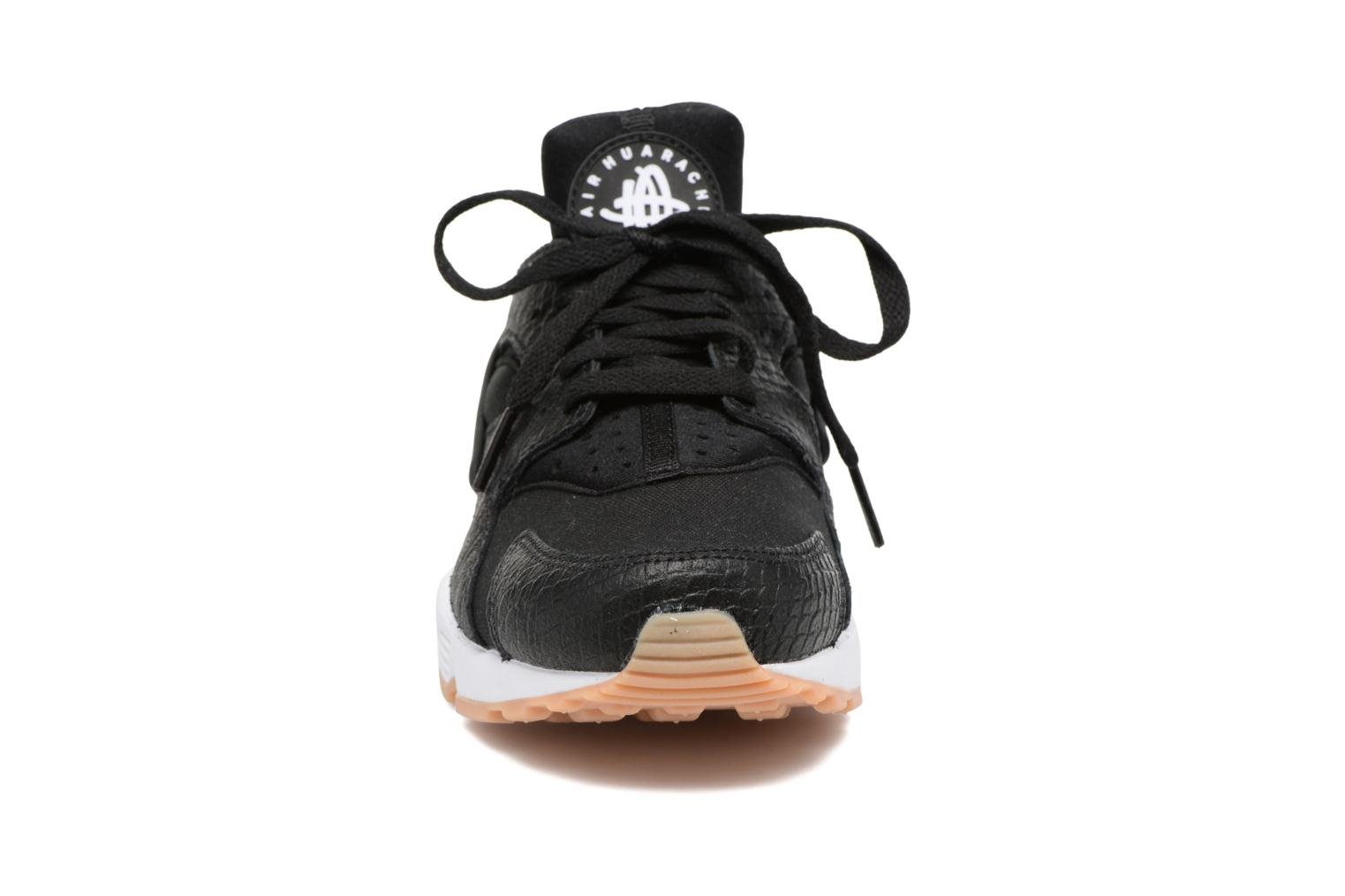 W Air Huarache Run Se BLACK/BLACK-GUM YELLOW-WHITE