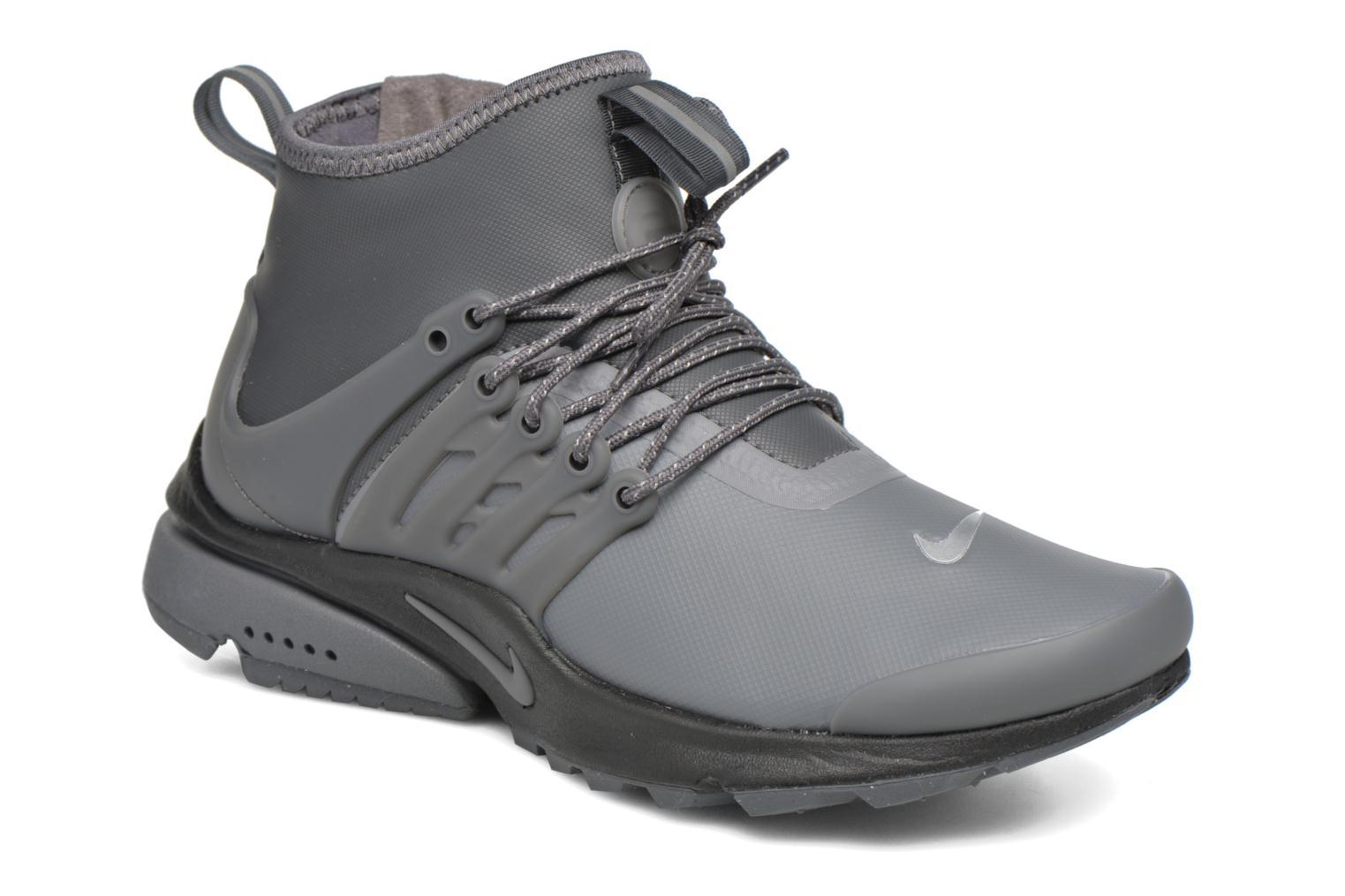W Air Presto Mid Utility Dark Grey/Dark Grey-Reflect Silver-Black