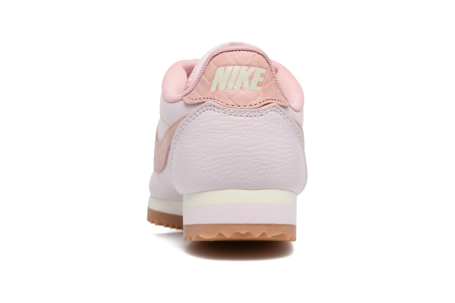 Baskets Nike W Classic Cortez Leather Lux Rose vue droite