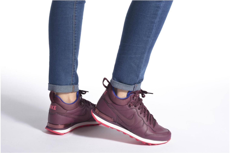 Baskets Nike W Internationalist Mid Lthr Marron vue bas / vue portée sac