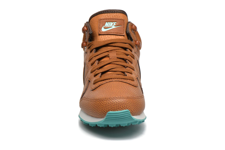 Baskets Nike W Internationalist Mid Lthr Marron vue portées chaussures