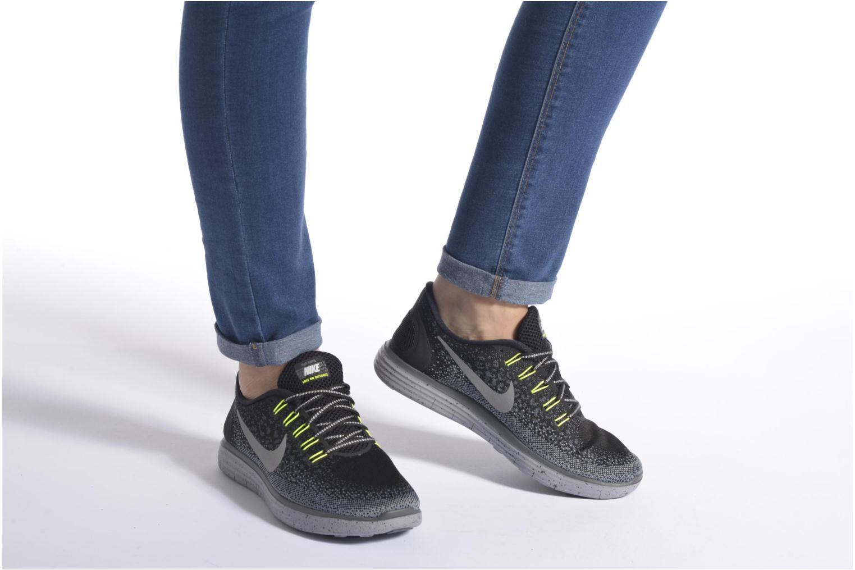 Chaussures de sport Nike W Nike Free Rn Distance Shield Multicolore vue bas / vue portée sac