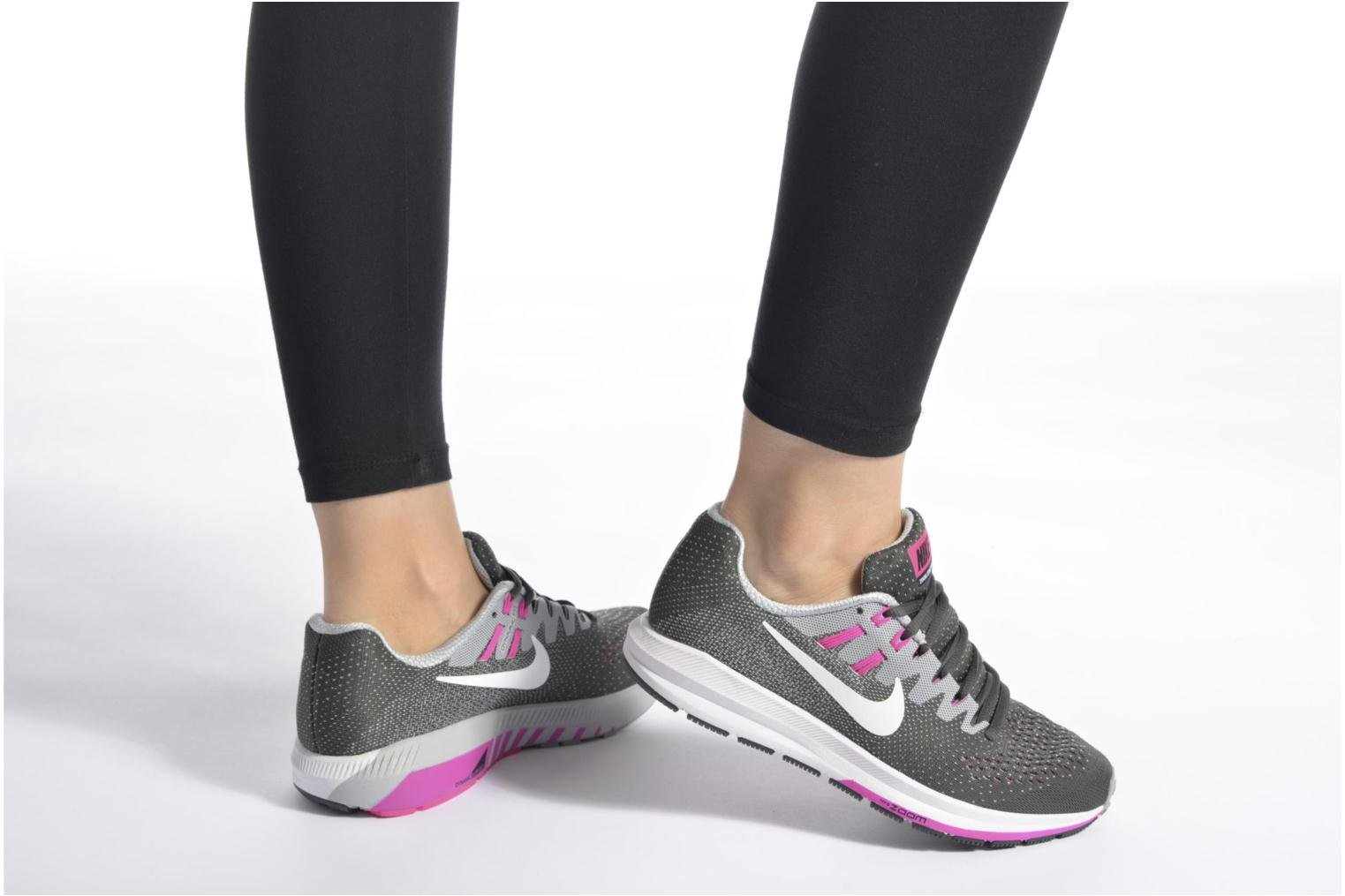Sport shoes Nike Wmns Air Zoom Structure 20 Grey view from underneath / model view
