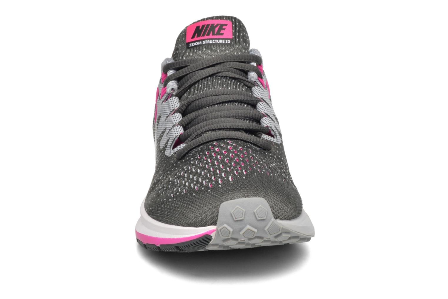 Wmns Air Zoom Structure 20 Anthracite/White-Wolf Grey-Fire Pink