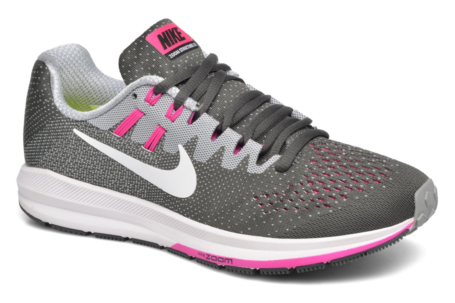 Sport shoes Nike Wmns Air Zoom Structure 20 Grey detailed view/ Pair view