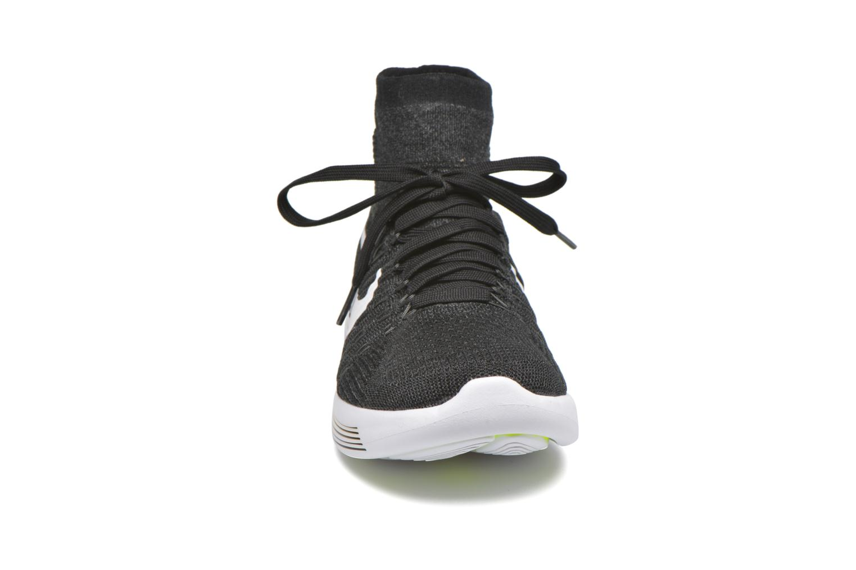 Sport shoes Nike Nike Lunarepic Flyknit Black model view