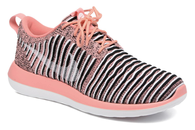 Baskets Nike W Nike Roshe Two Flyknit Orange vue détail/paire