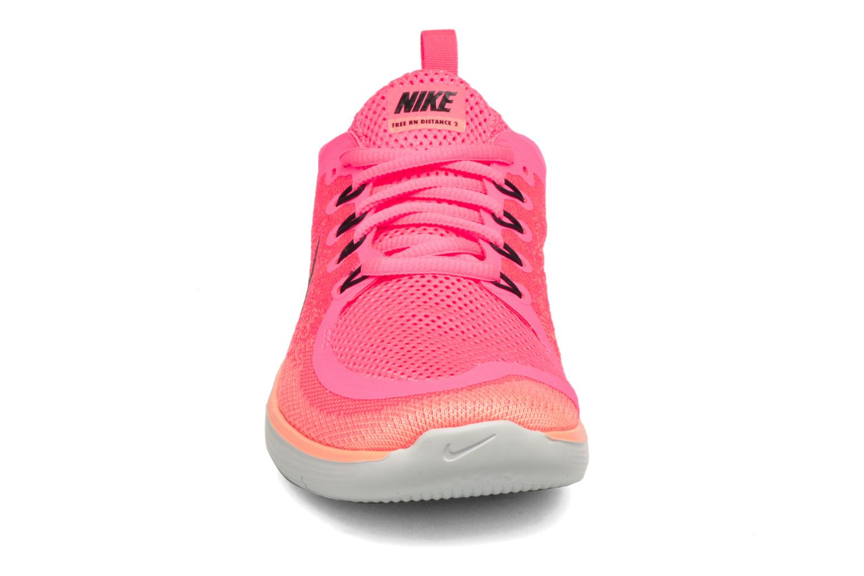 Scarpe sportive Nike Wmns Nike Free Rn Distance 2 Rosa modello indossato