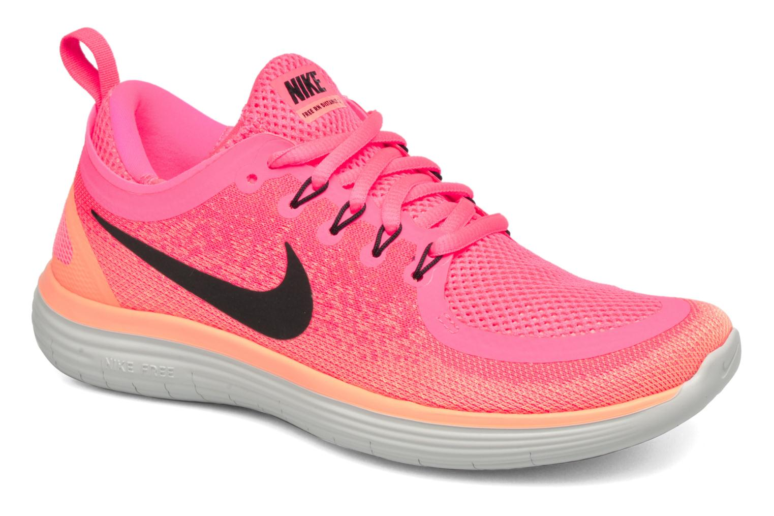 Sport shoes Nike Wmns Nike Free Rn Distance 2 Pink detailed view/ Pair view